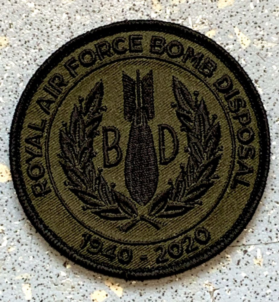 RAF Bomb Disposal Woven Patch (Velcro Backed)